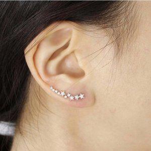 Free People Silver Star Ear Crawler